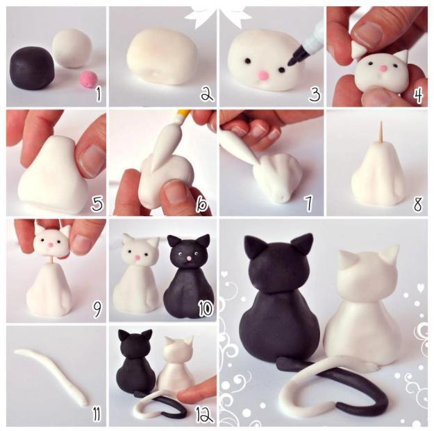 DIY-Clay-Cute-Cat