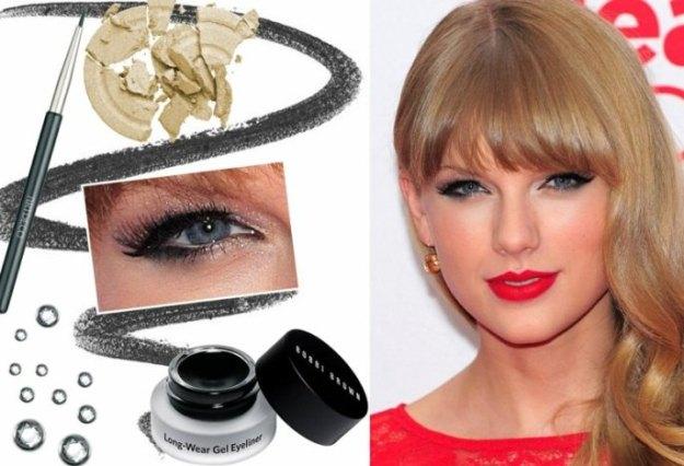 Herbsttyp-Farbpalette-Make-up-roter-Lippenstift-Kajal-Augen
