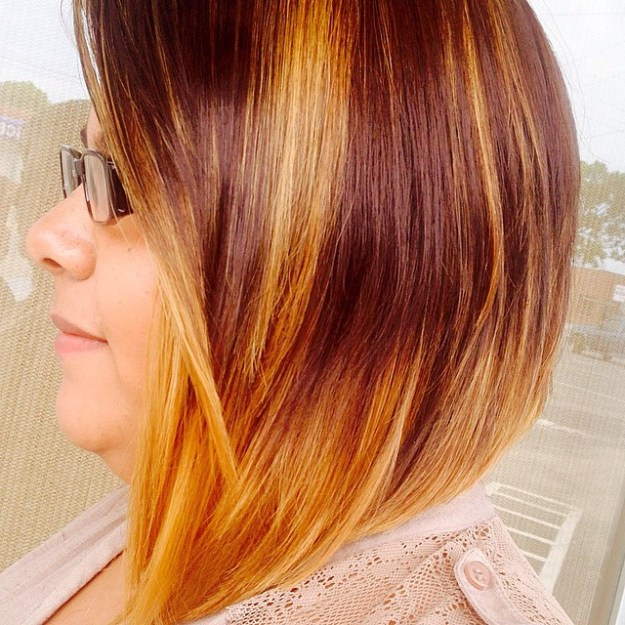 Chocolate-Brown-to-Golden-Ombre
