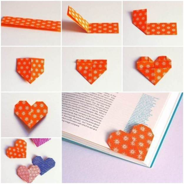 DIY-Origami-Heart-Shaped-Bookmark-F
