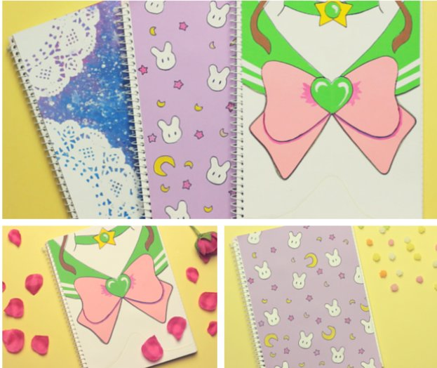 DIY_sailor_moon_inspired_notebooks