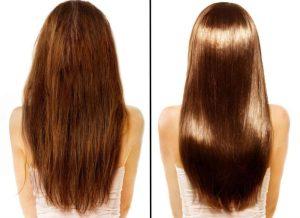 Желатиновая маска для волос - до и после