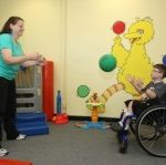 child in physical therapy