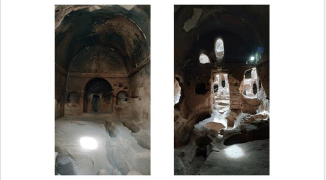 Gümüşler Manastırı 2 farklı açıdan kilise