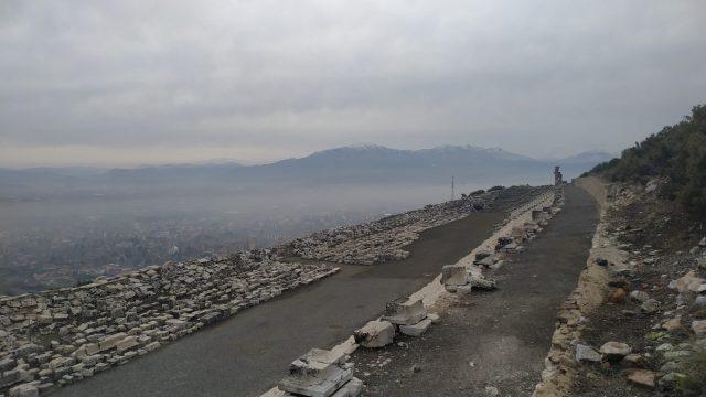 kibyra stadyumu ve gölhisar manzarası