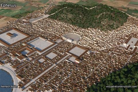 Efes Antik Kentinin 2000 yıl önceki çizimleri