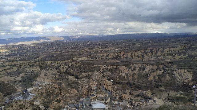 uçhisar kalesi nevşehir manzarası