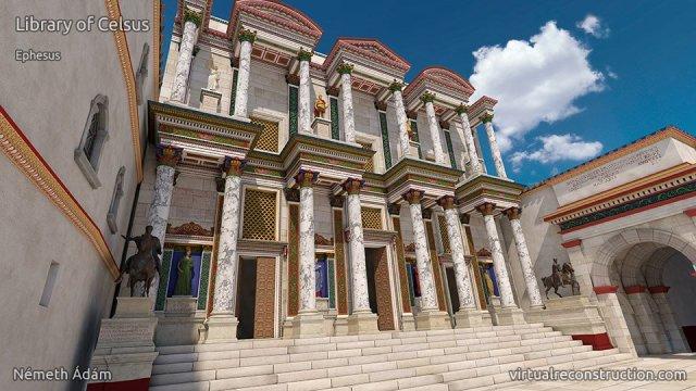 efes celcus kütüphanesi 2000 yıl önce nasıldı