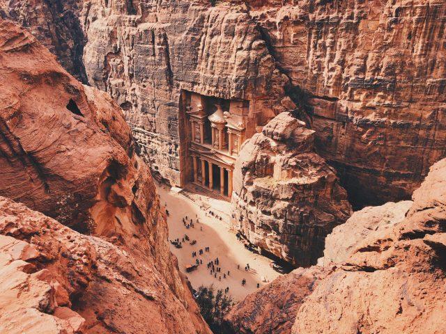 Petra Antik Kenti Ürdün el hazne tepeden
