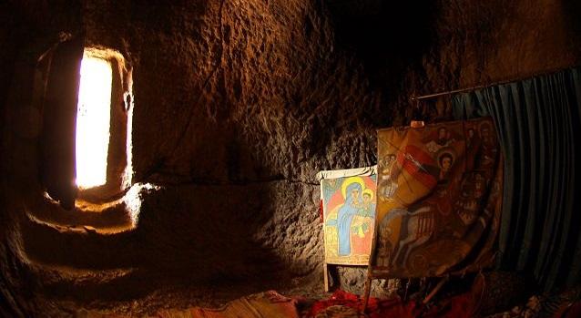Etiyopya Hristiyanlarının Kutsal Bölgesi Lalibela bakireler evi