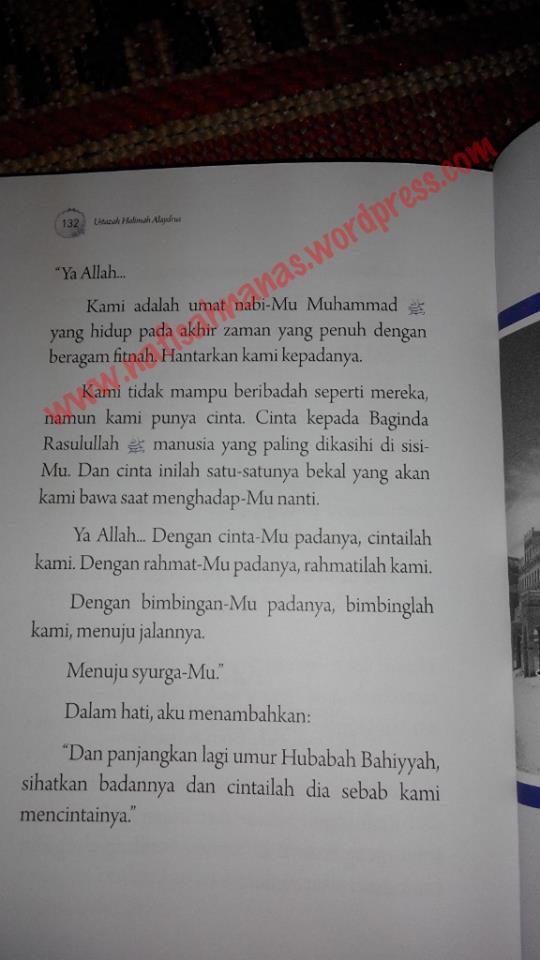Ulasan buku : Bidadari Bumi - 9 kisah wanita solehah (karya Ustazah Halimah Alaydrus) (6/6)