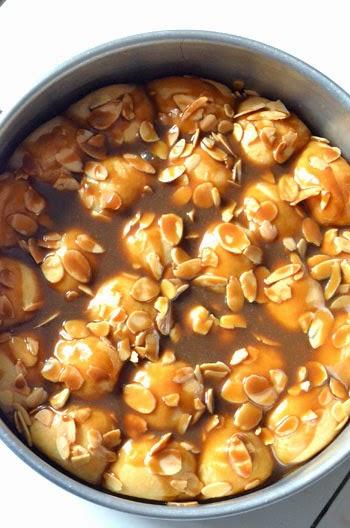 Roti sarang lebah ala-ala krunchy karamel almond (4/6)