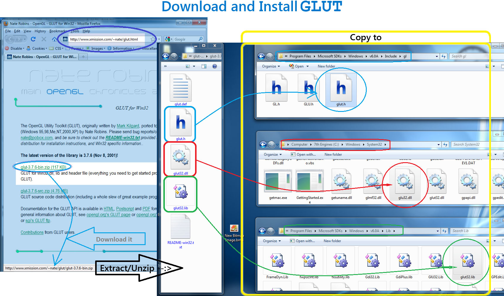 Download and Install GLUT