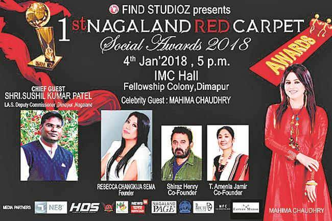 1st Nagaland Red Carpet Social Awards today