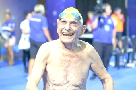 99-year-old sets world record!