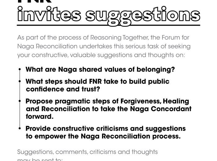 FNR invites suggestions