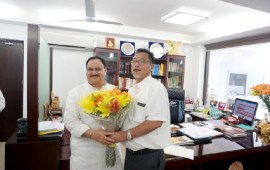 Pangnyu calls on Union Ministers