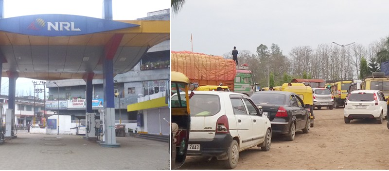Petrol pumps shuts down  indefinitely in State