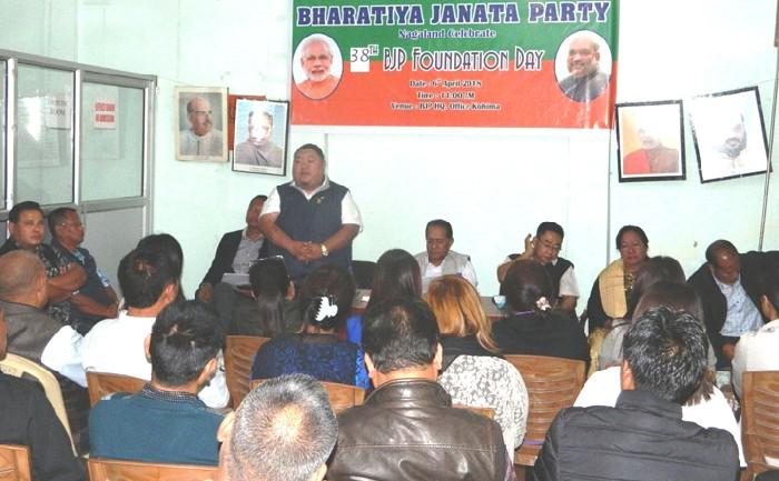 BJP Nagaland celebrates 38th Foundation Day