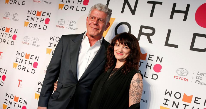 He was my love, my protector, says girlfriend Asia Argento on Anthony Bourdain's death