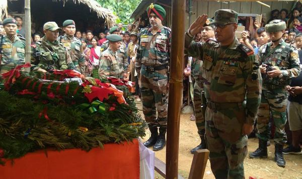 Sepoy Hungnga Konyak laid to rest with full honour