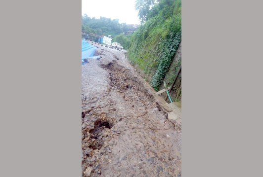 More than 50 families evacuated  from houses damaged by landslide