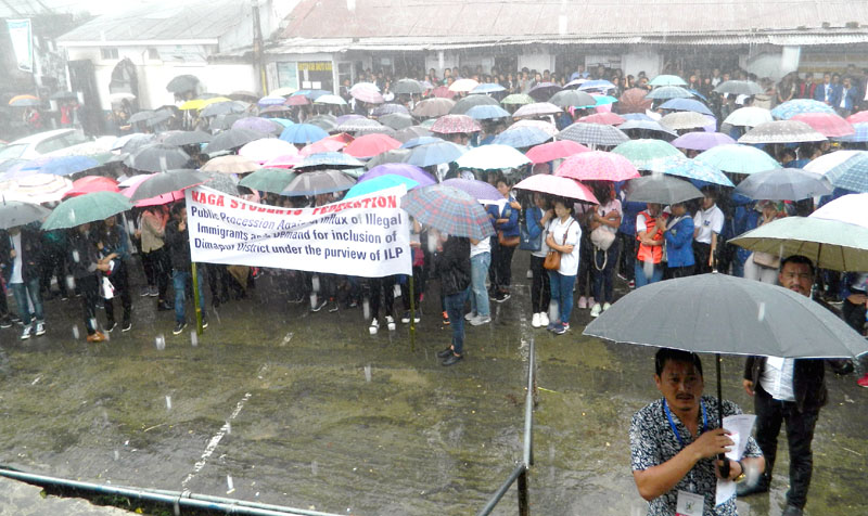Students rally against influx of illegal immigrants; Demands inclusion of Dimapur under ILP regime