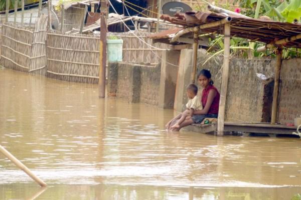 Flash floods in Dimapur due to torrential rains