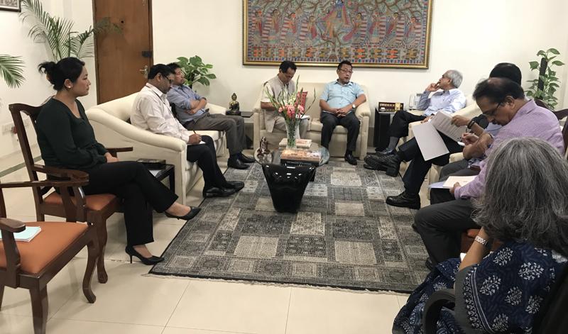 ENLU delegation meets VC NITI Aayog