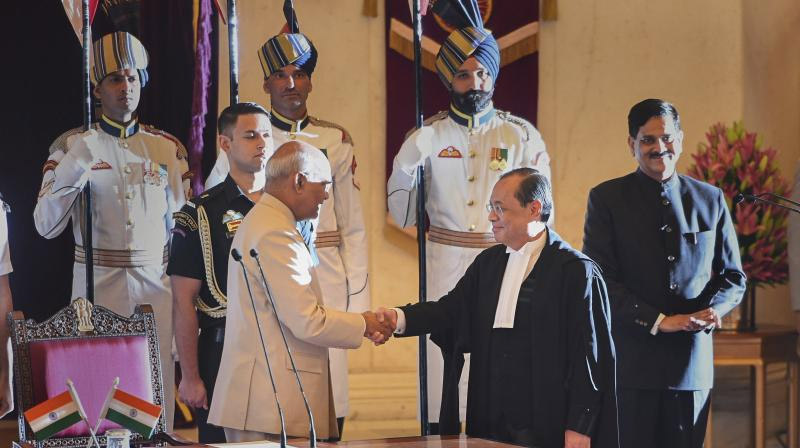 Justice Gogoi sworn in as 46th CJI