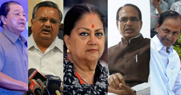 Tight race between BJP, Congress in MP, Chhattisgarh;  edge for Congress in Rajasthan: Exit polls