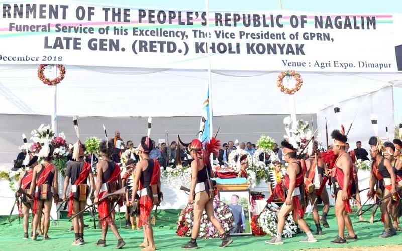 Thousands pay emotional tribute to late General Kholi Konyak