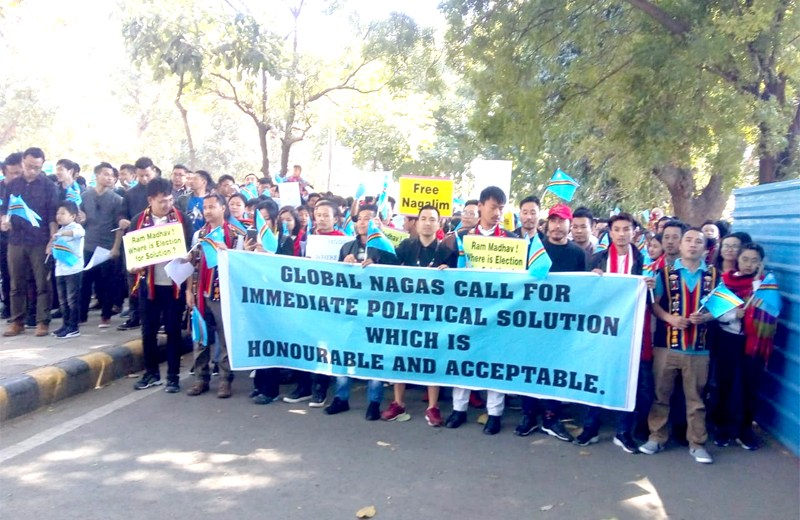 Thousands of Nagas participate in peace rally at Delhi