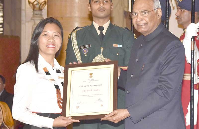 Hekani Jakhalu awarded Nari Shakti Puraskar 2018