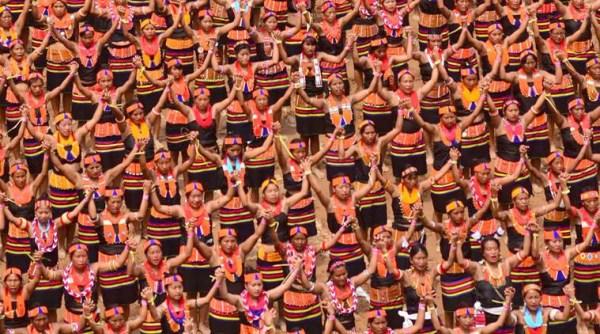 Konyak women dance sets  Guinness World Records