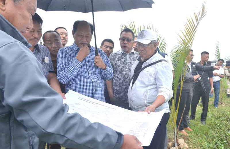 Rio inspects ongoing development works  at Medical College site