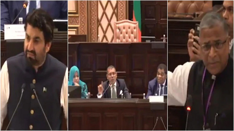 Heated exchange between delegates of India,  Pakistan as Kashmir issue raised in Maldives