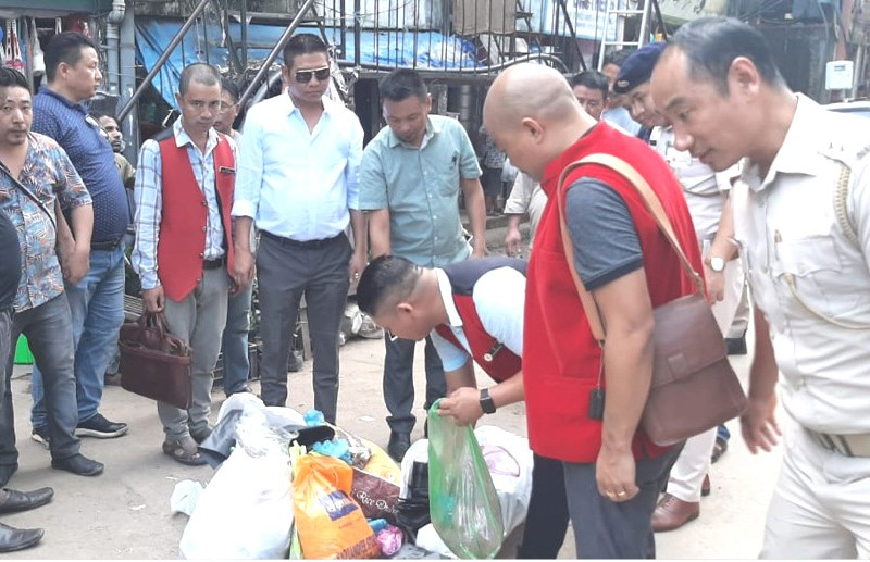 Checking on banned single use  plastic in Kohima, Dimapur