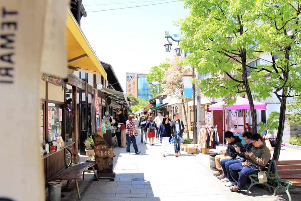 nawate street in matsumoto, nagano