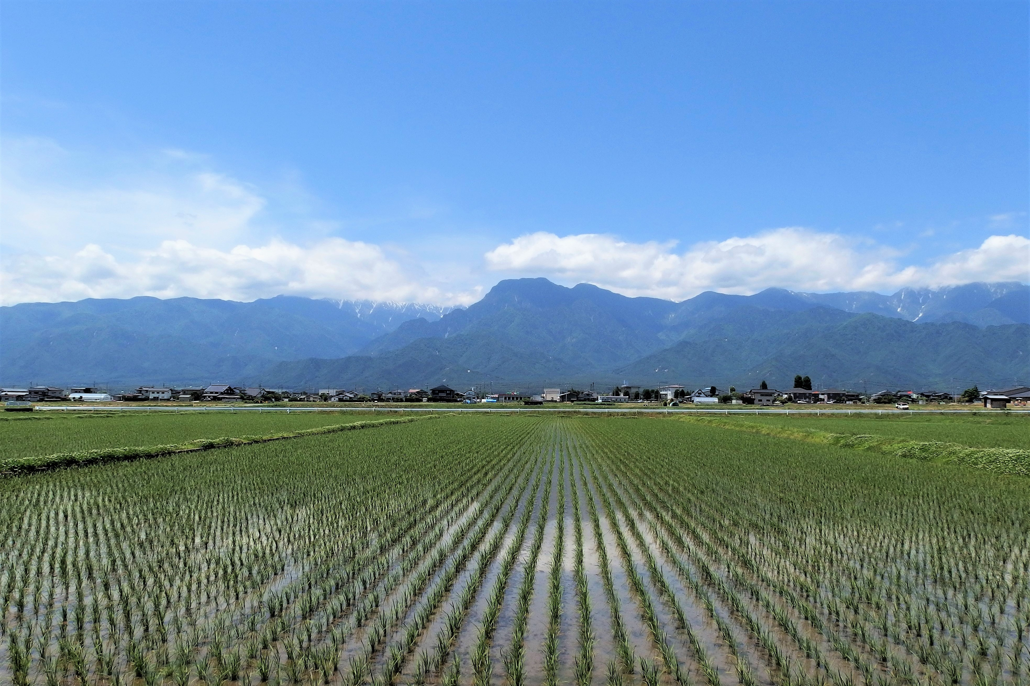 Ikeda city in Nagano