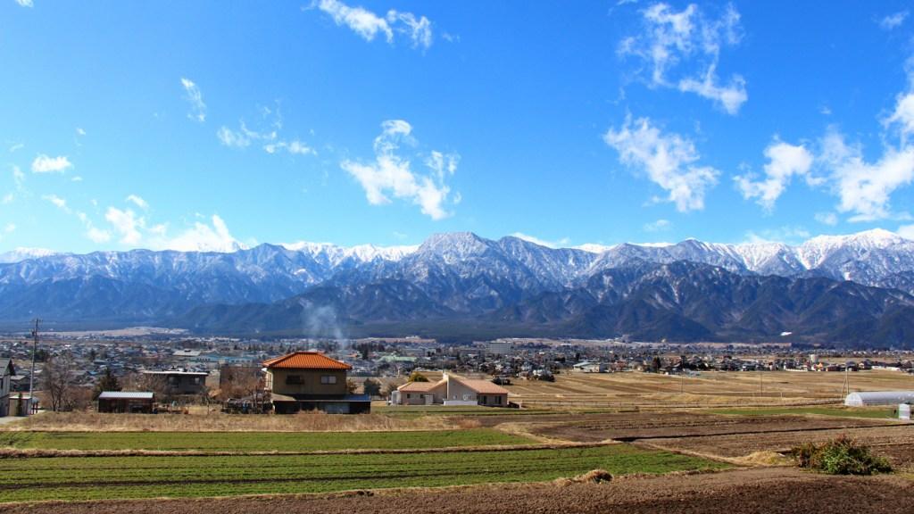 Ikeda city in Nagano Northern Alps