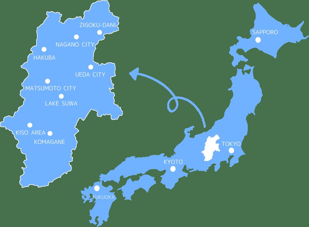 NAGANO MAP ACCESS