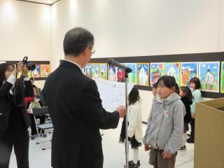 141213長崎世界遺産(候補)絵画展表彰式(低学年)
