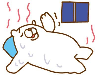 寝苦しい夜白熊