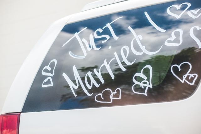 車の落書き