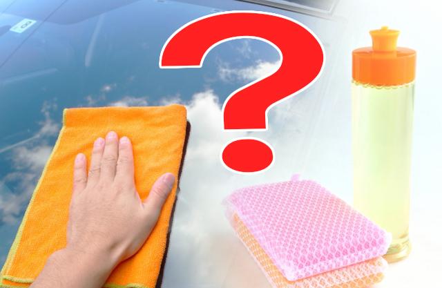フロントガラスの油膜取りに食器用洗剤の効果は?使ってもいいの?