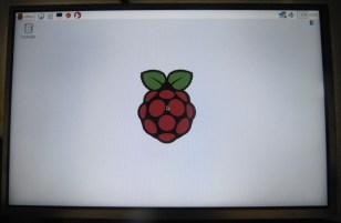 Le bureau de Raspbian sur l'écran LCD 10 pouces HDMI 1280x800 IPS