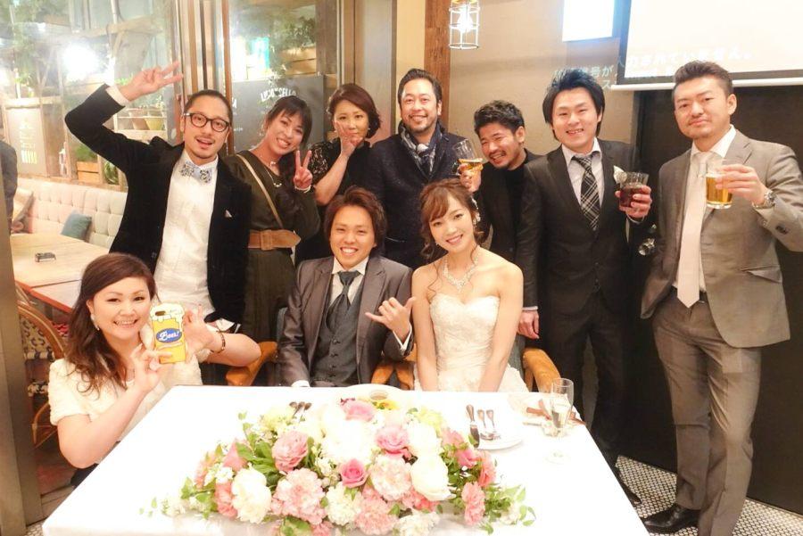 同窓会みたいだった早野のウエディングパーティー   早野&まっきーおめでとう!!