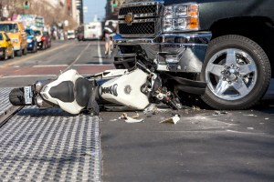 Motorcycle accident with a pick up truck in New Jersey.