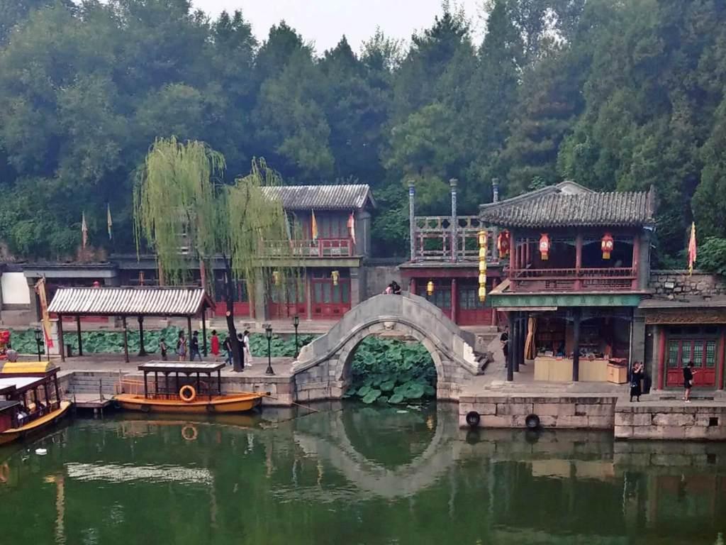 Uliczka Suzhou w Pałacu Letnim w Pekinie.